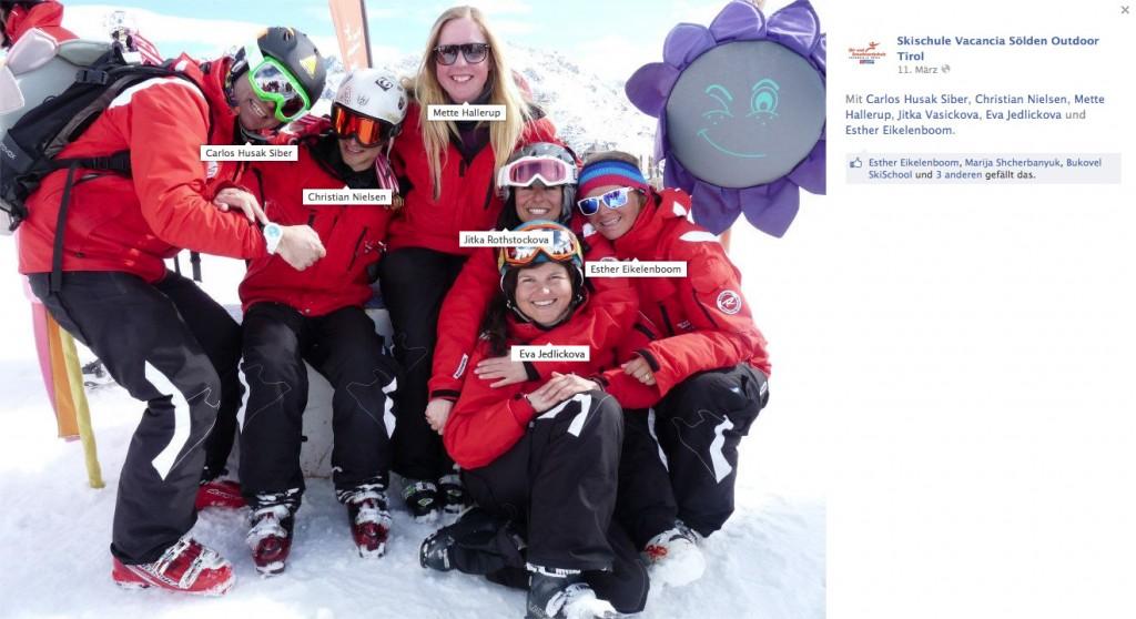 Internationale Skilehrer der Skischule Vacancia